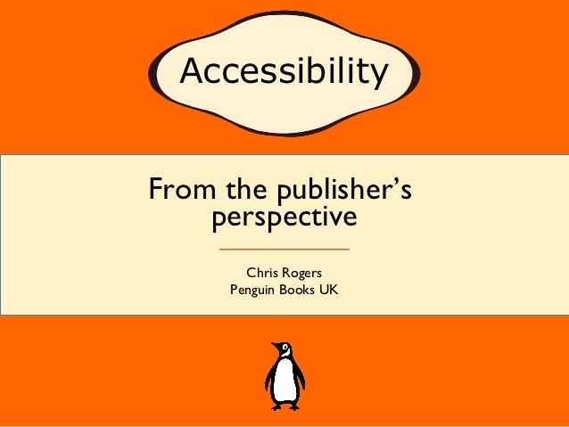 Accessibility from the Publisher\'s Perspective