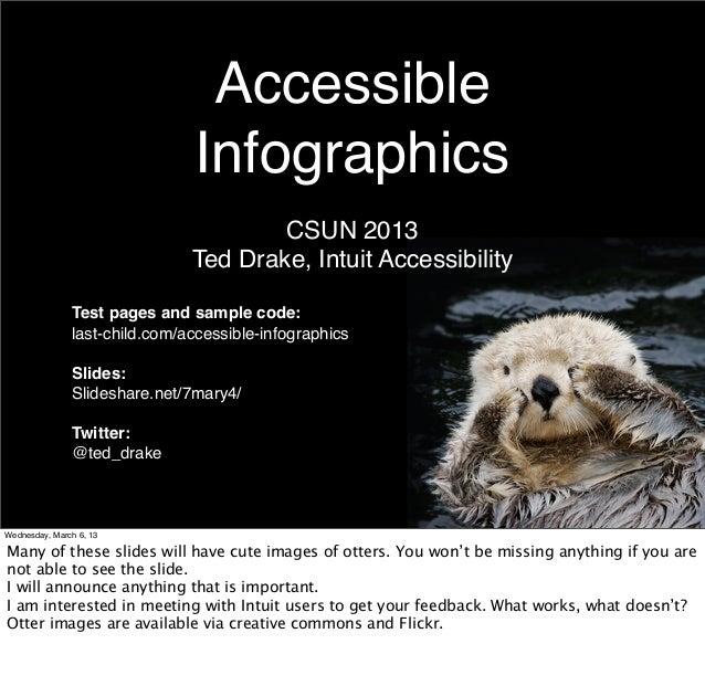 Accessible                               Infographics                                       CSUN 2013                     ...