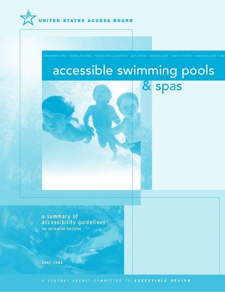 Accessible Pools & Spas