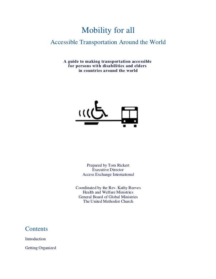 Accessible Public Transportation Handbook