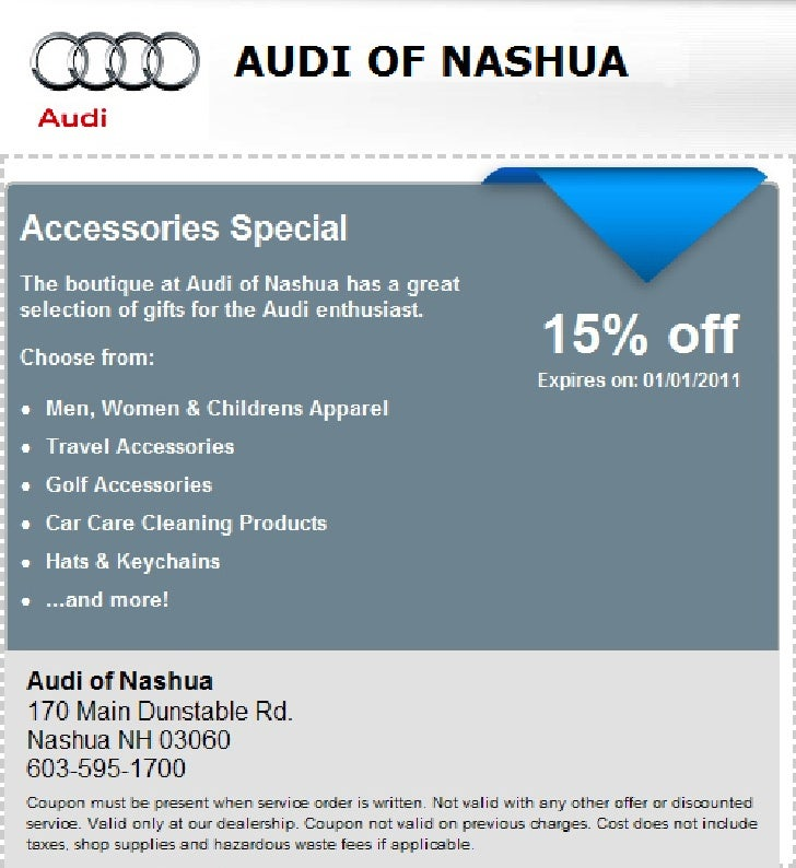 Accessories Amp Souvenirs Special Audi Of Nashua Nh