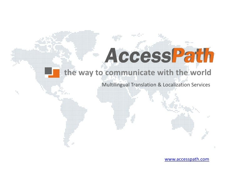 the way to communicate with the world          Multilingual Translation & Localization Services                           ...