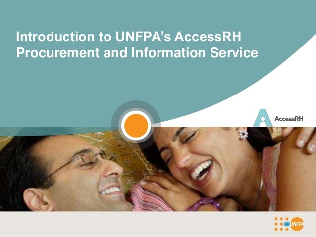 Introduction to UNFPA's AccessRHProcurement and Information Service