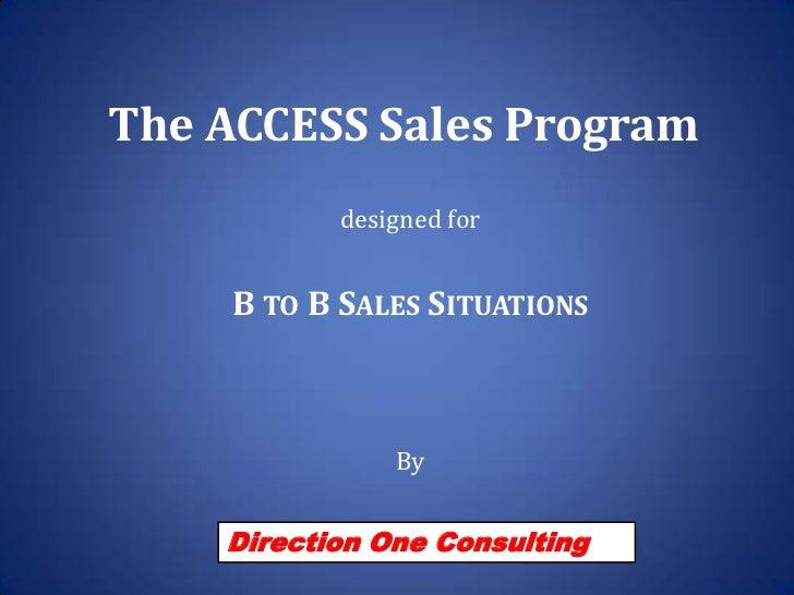 Access Sales Program   Institutional Sales