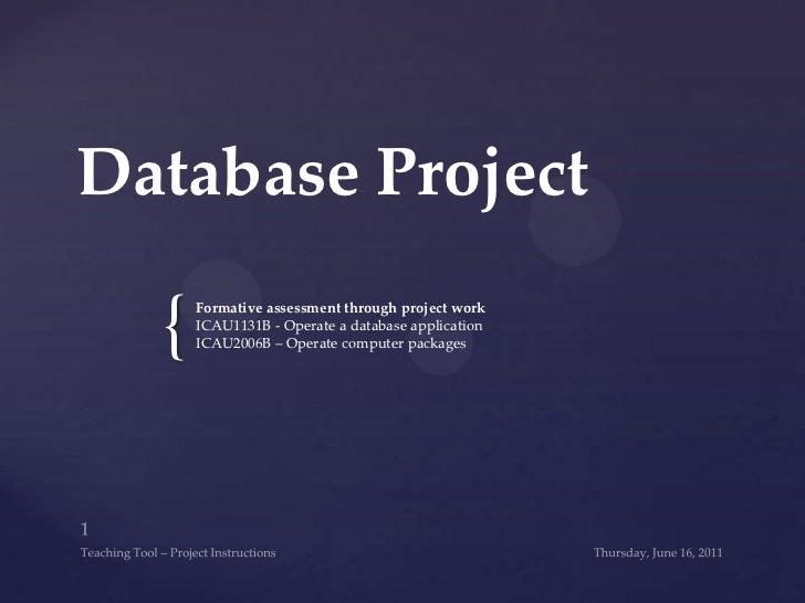 MS Access teaching powerpoint tasks