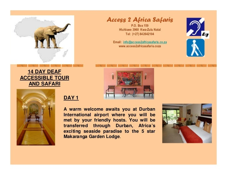 Access To Africa Deaf Tours