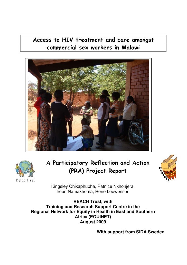 Access to HIV treatment and care amongst     commercial sex workers in Malawi            A Participatory Reflection and Ac...