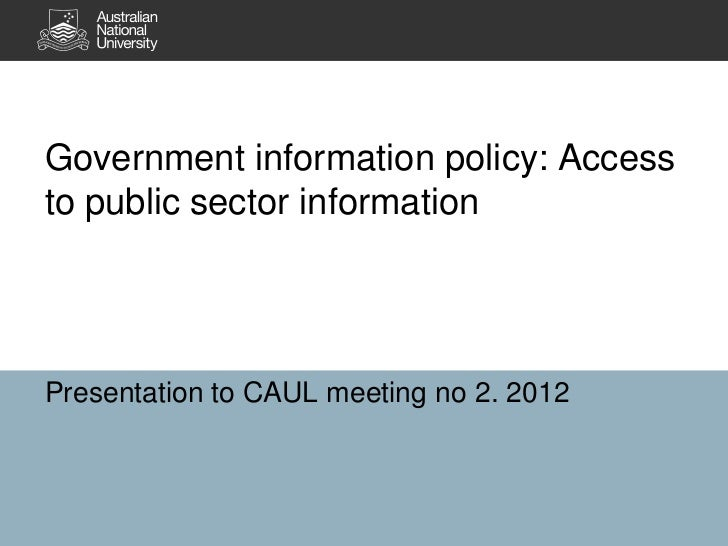 Access to public sector information