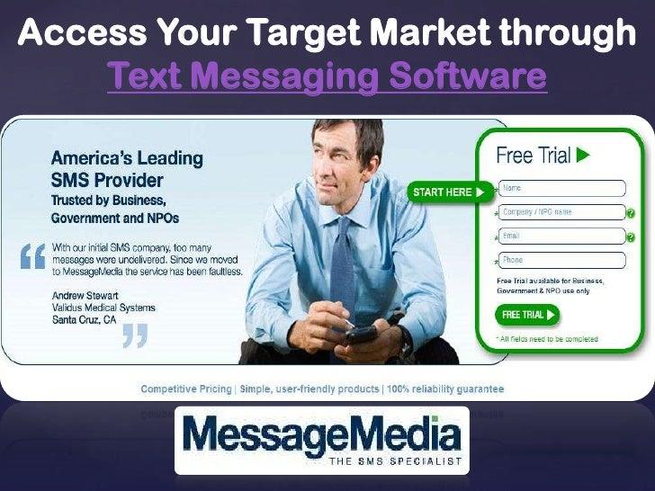 Access Your Target Market through Text Messaging Software<br />