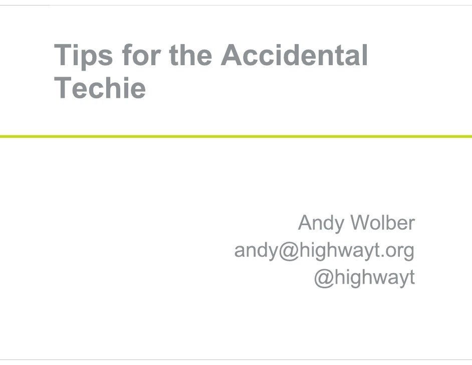Accidental techie may 2010