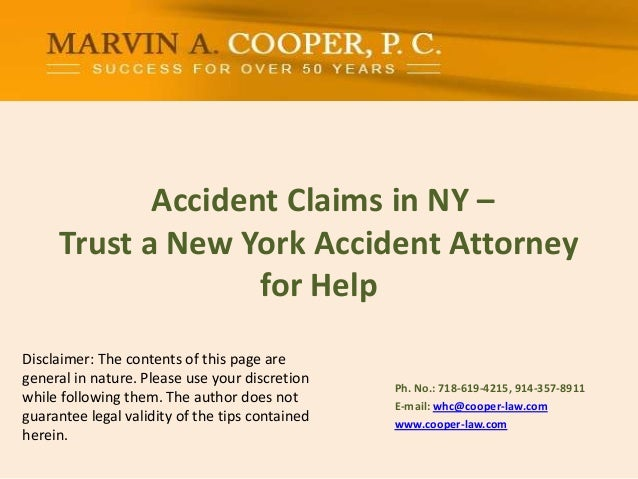 Accident Claims in NY –Trust a New York Accident Attorney for Help