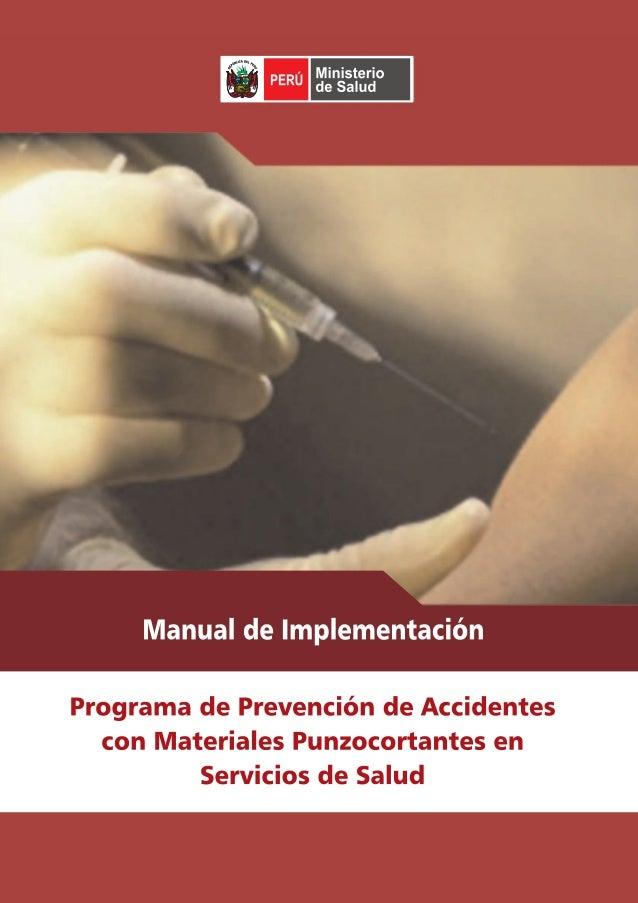 Accidentes con materiales punzocortantes en servicios de salud prevencion