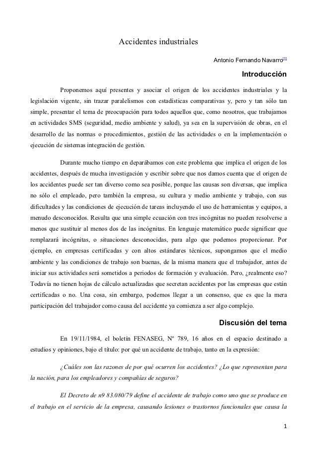 Accidentes industriales                                                                          Antonio Fernando Navarro[...