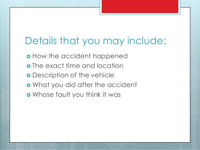 Car accident essay