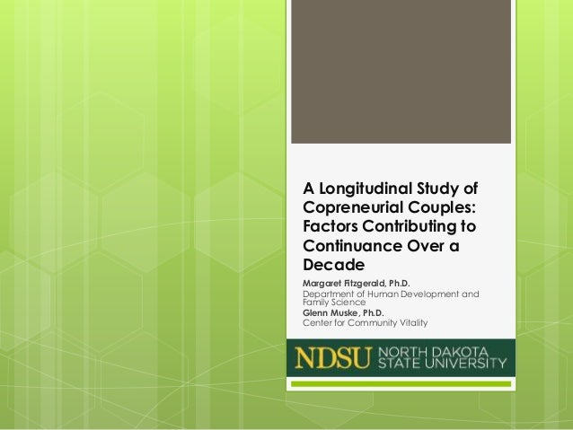 A Longitudinal Study of Copreneurial Couples: Factors Contributing to Continuance Over a Decade Margaret Fitzgerald, Ph.D....