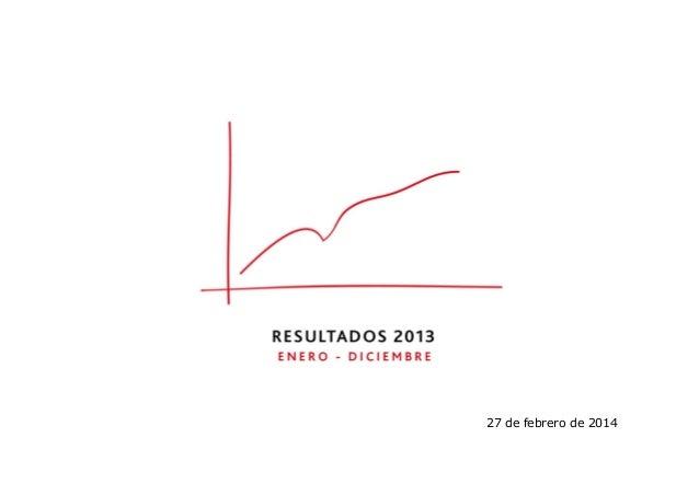 Informe de resultados FY 2013