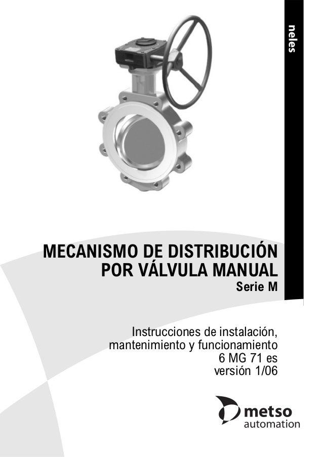 MECANISMO DE DISTRIBUCIÓN POR VÁLVULA MANUAL Serie M Instrucciones de instalación, mantenimiento y funcionamiento 6 MG 71 ...