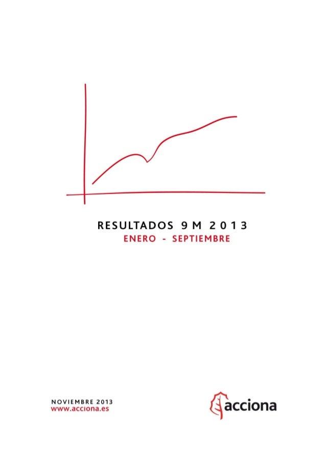 ACCIONA Resultados 9M 2013