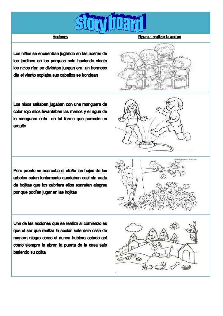 Acciones                        Figura a realizar la acciónLos niños se encuentran jugando en las aceras delos jardines en...