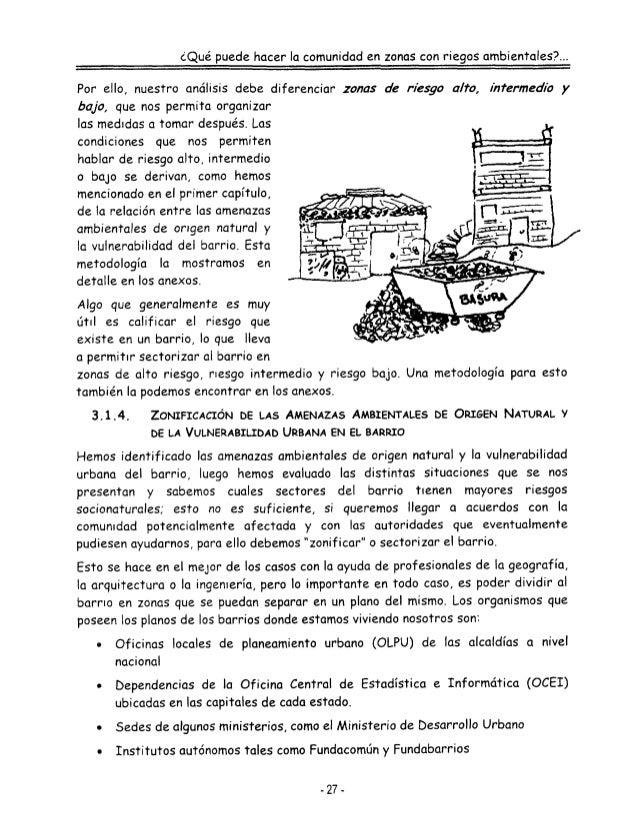 Acciones de la comunidad en zonas de riesgos ambientales
