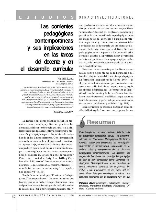 42 A C C I O N P E D A G Ó G I C A, Vol. 9, Nos. 1 y 2 / 2000 La Educación, como práctica social, se pro- mueve como compl...