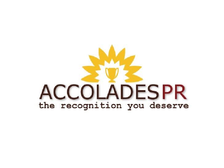 Accolades Pr New Media