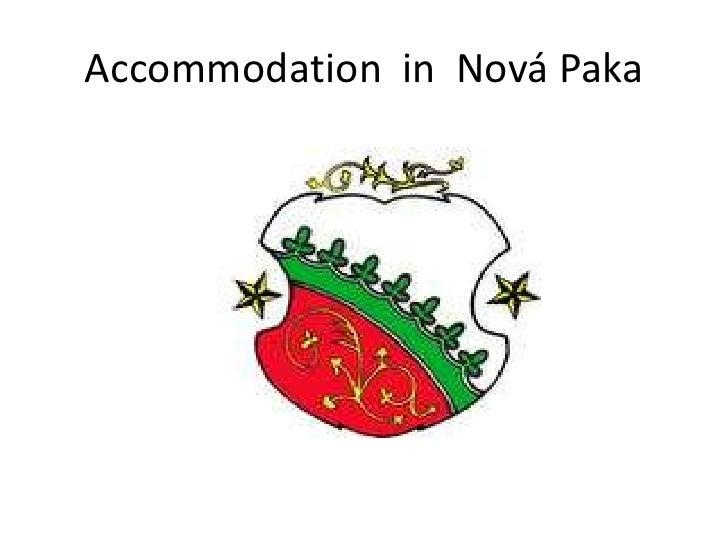 Accommodation  in  Nová Paka<br />