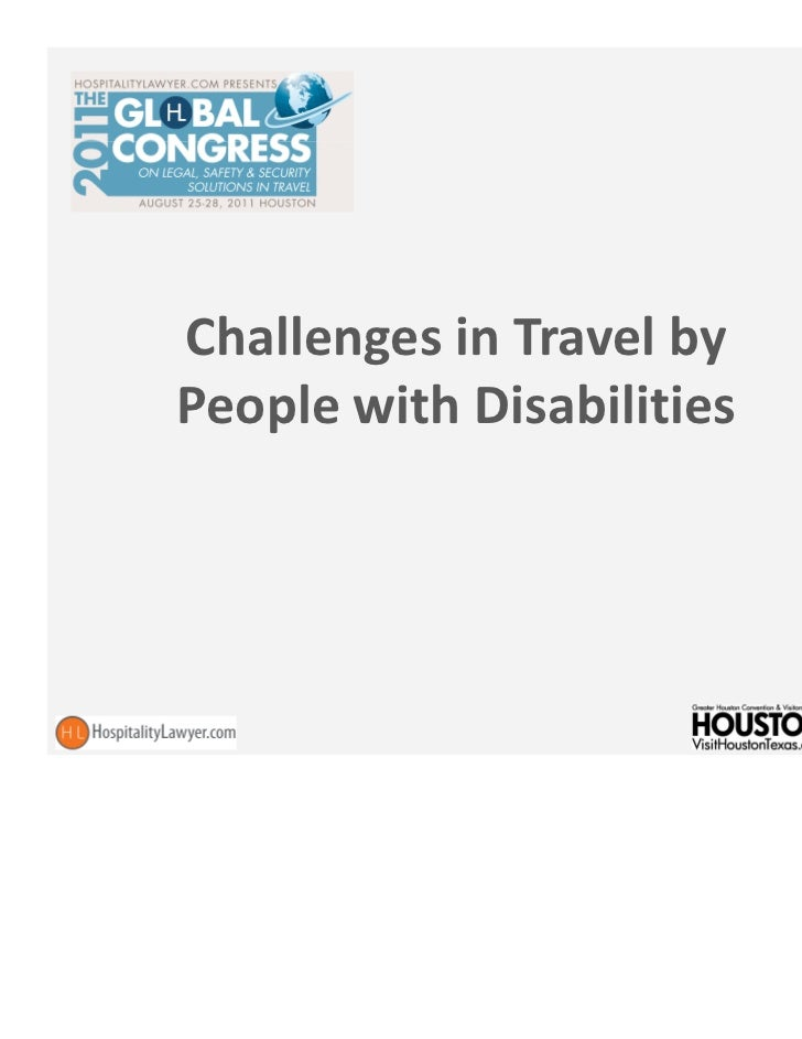 Challenges in Travel byPeople with Disabilities