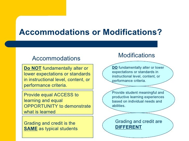 accommodating instruction to meet individual needs Differentiated instruction: accommodating the needs of all learners by potential and with being able to meet their individual learning needs (gouws, 2007.