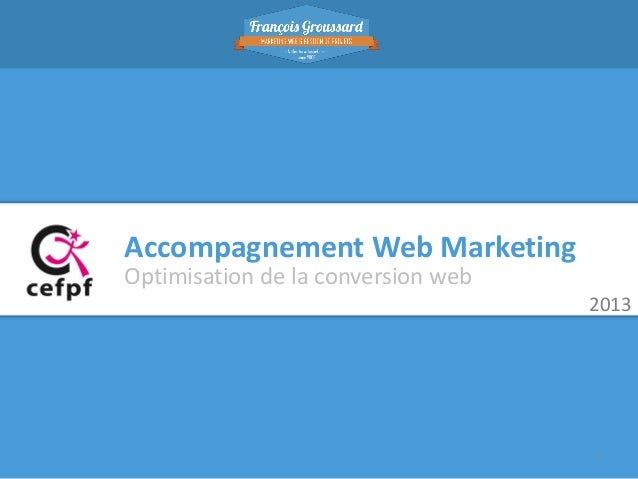 Accompagnement Web Marketing Optimisation de la conversion web 2013  1