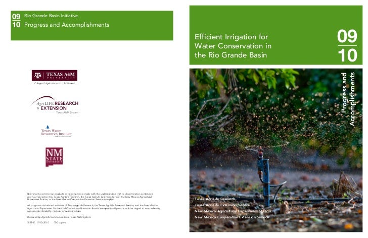 TX: Efficient Irrigation for Water Conservation in the Rio Grande Basin