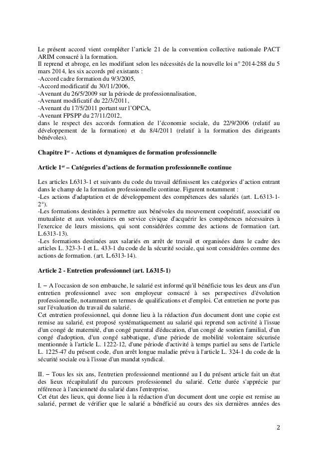 Article 3 Commission paritaire Convention collective Habitat : personnels PACT