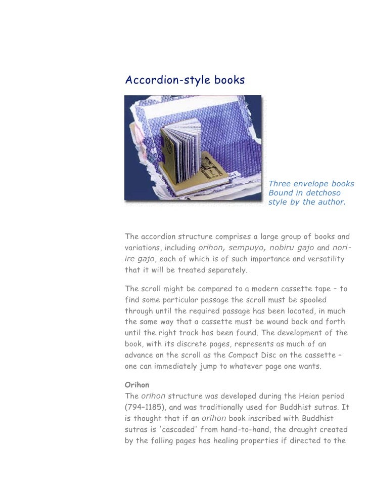 Accordion-style books                                            Three envelope books                                     ...