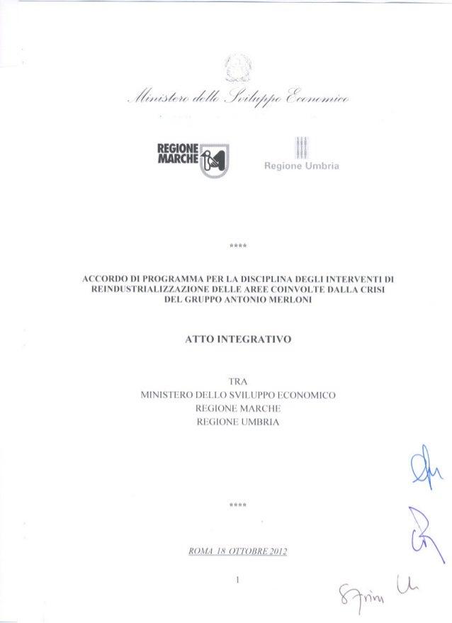 Accordo di programma crisi ex Merloni