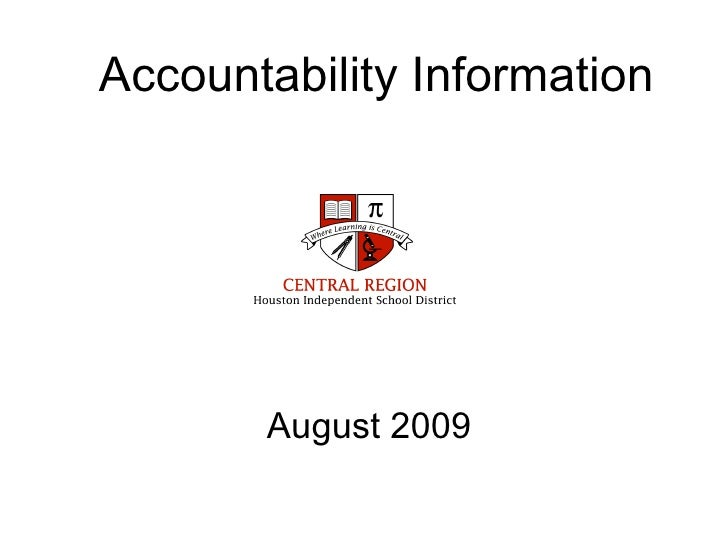 Accountability Information August 2009