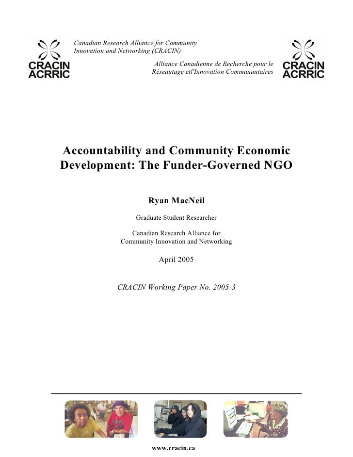 Accountability CED: The Funder-Governed NGO