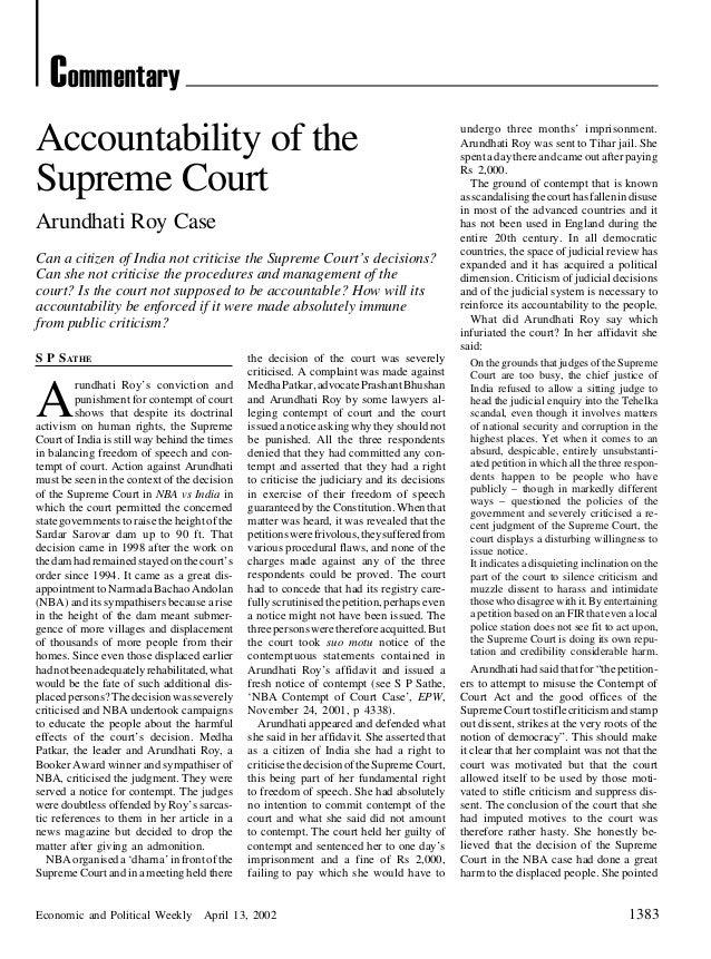 Accountability sc epw