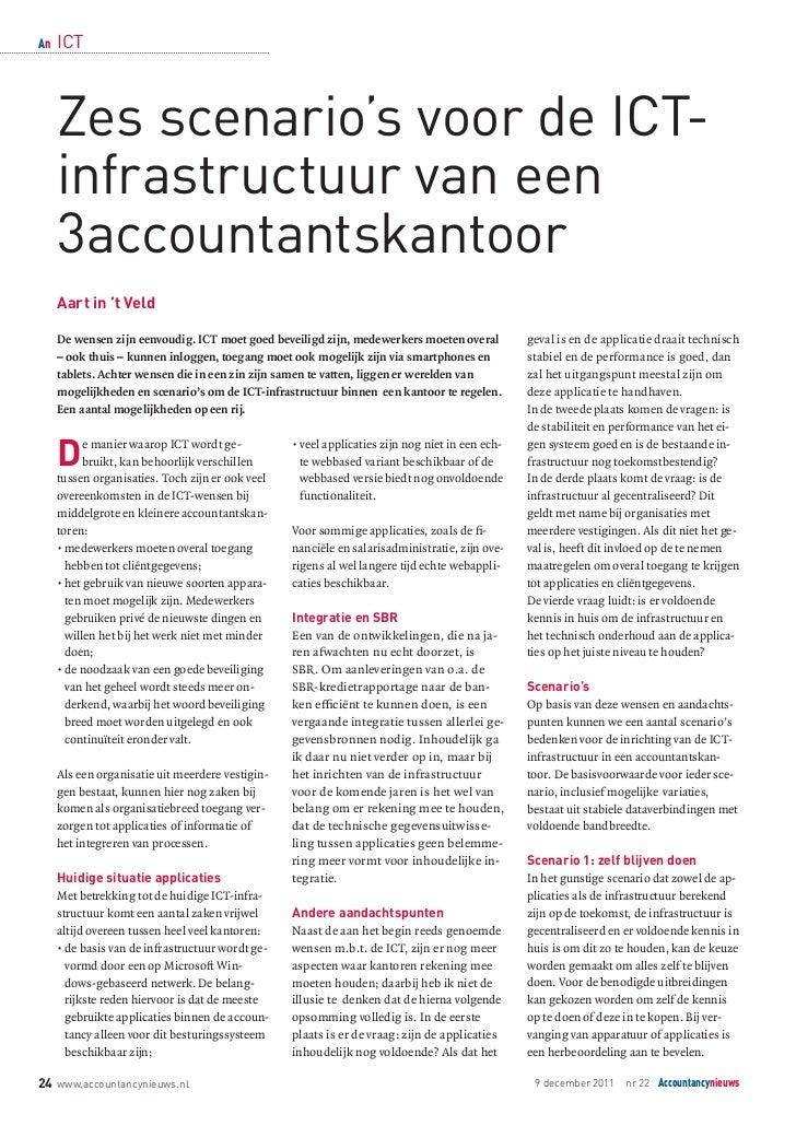 Zes scenarios voor de IT infrastructuur van een accountantskantoor