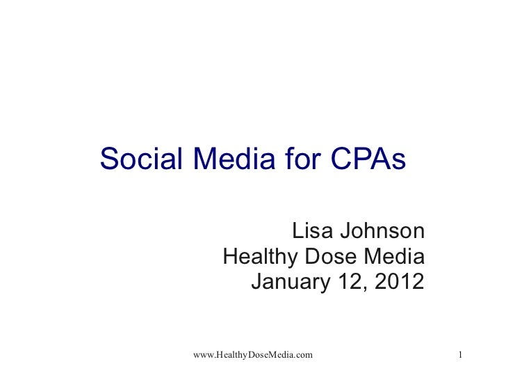 Social Media for Accountants 01.12.12