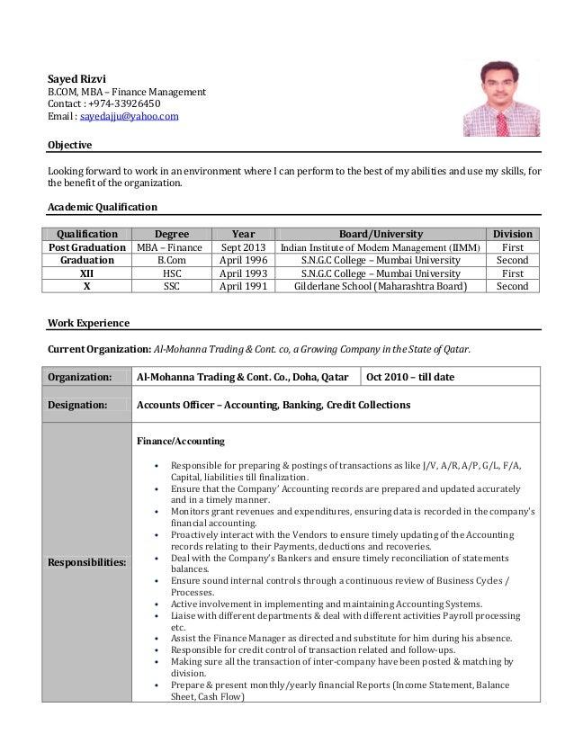 Accountant S C V Sayed Rizvi