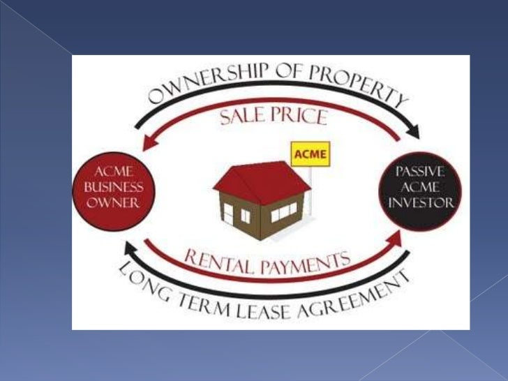 Sale and leaseback-is an arrangement whereby oneparty sells a property to anotherparty and then immediately leasesthe prop...