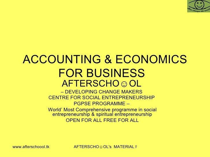 Accounting & Economics For Business 5 November Ii