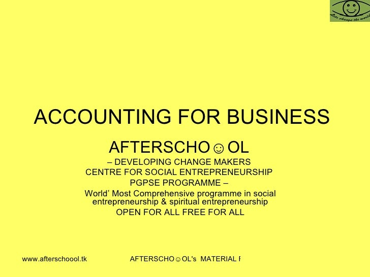 Accounting For Business 25 October