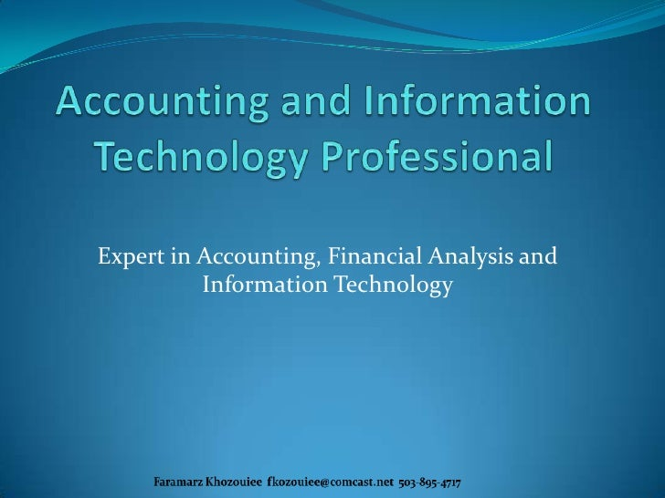 accounting and information technology professional