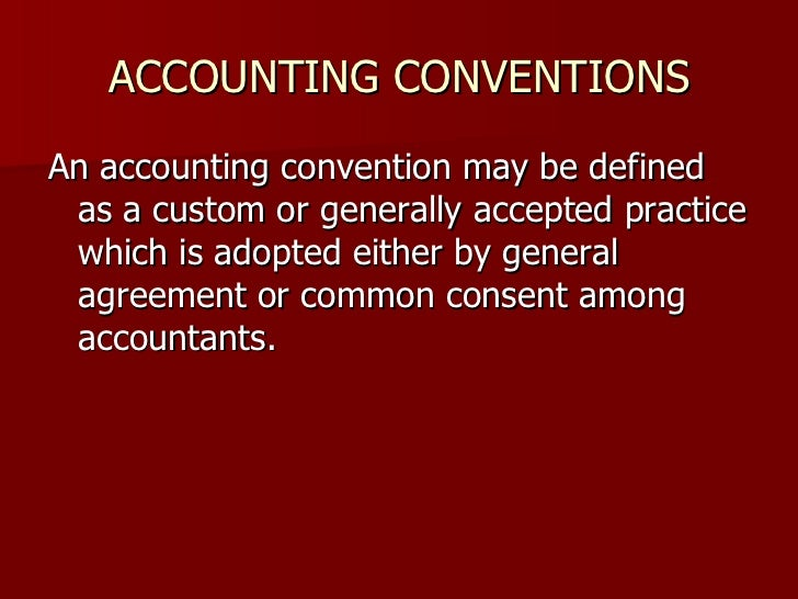What is going concern convention?