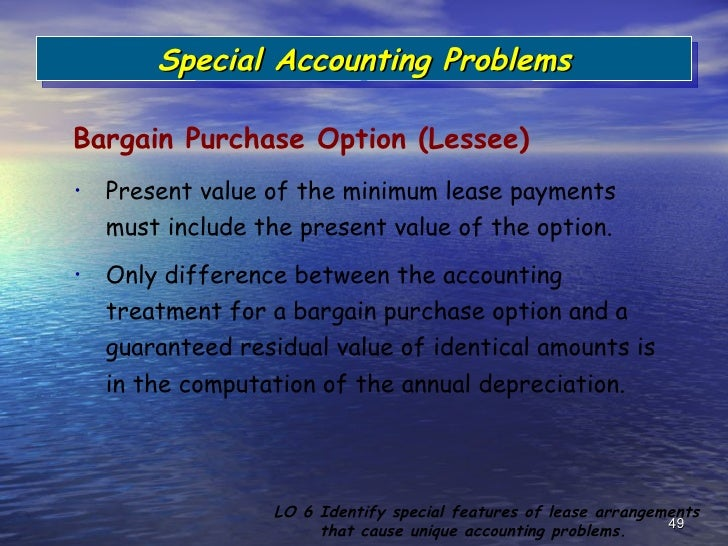 Unguaranteed Residual Value >> Accounting for leases