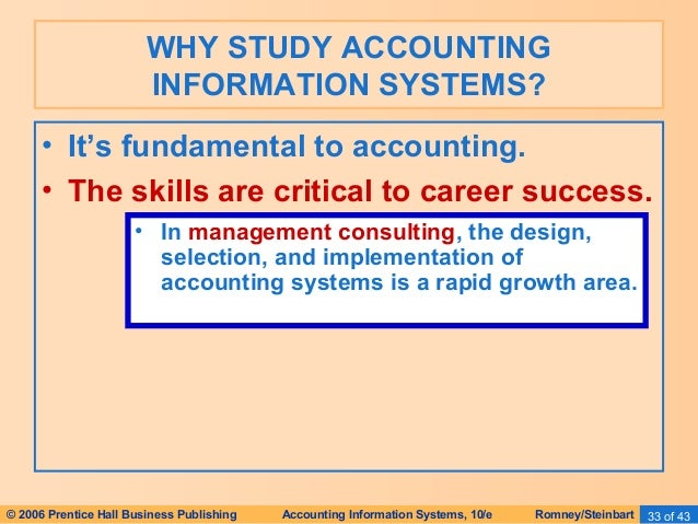 the study of accounting system