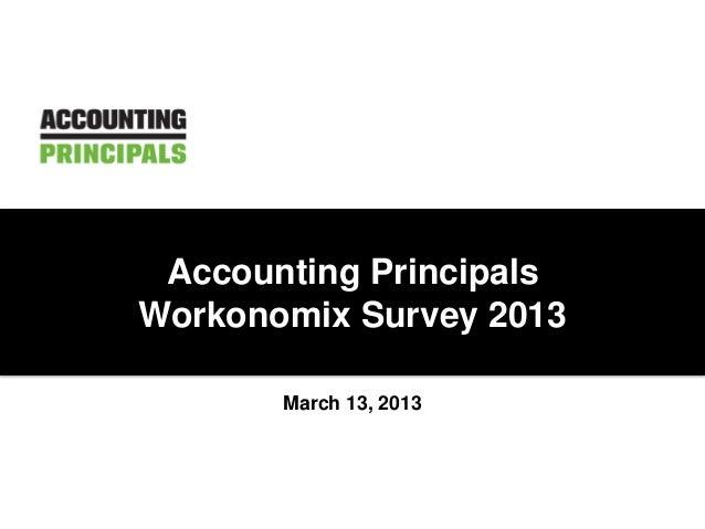 March 13, 2013Accounting PrincipalsWorkonomix Survey 2013