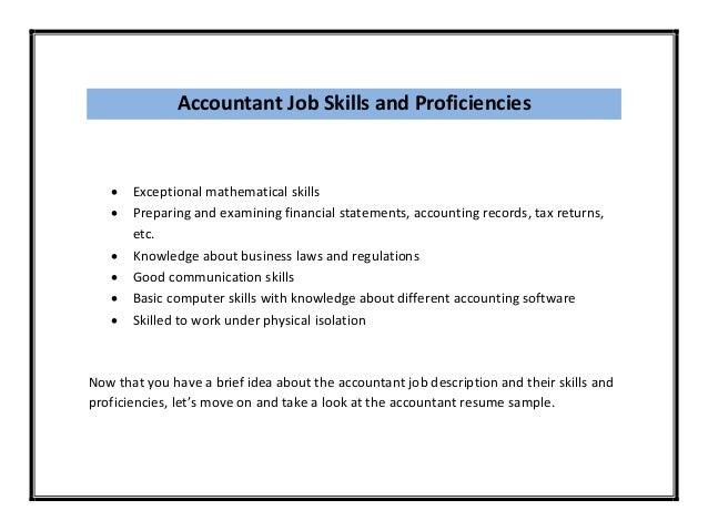 basic accounting skills resume skills and proficiencies exceptional mathematical preparing examples resume sample section resumes
