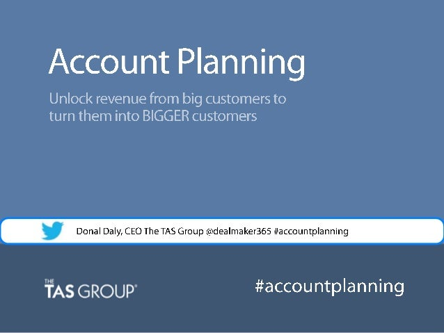 Sales Webinar | Account Planning in Salesforce - How to UnlockRevenue from your Big Customers